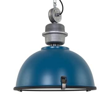 Industriële hanglamp Bikkel in trendy petroleum