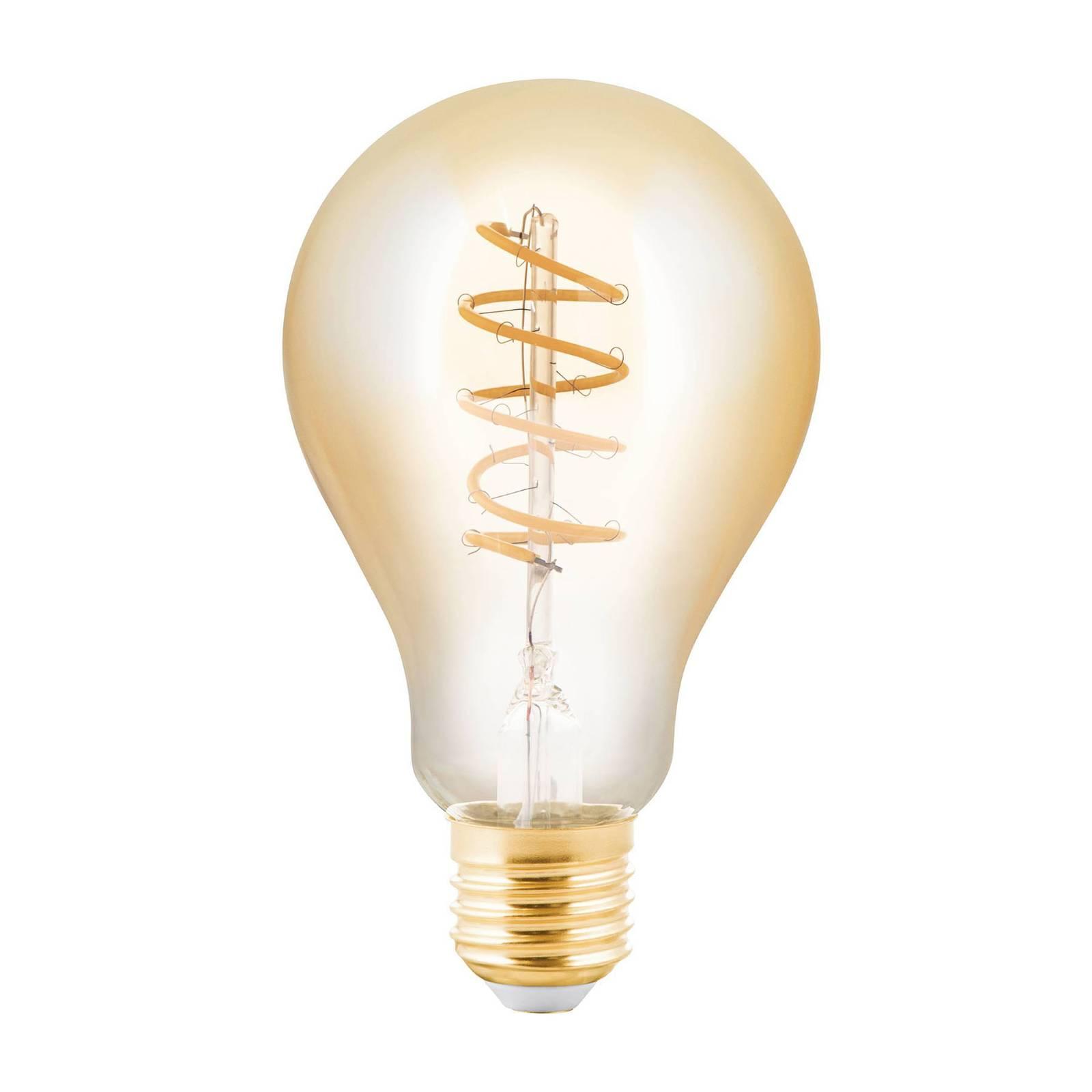 Lampadina LED E27 4W a pera ambra