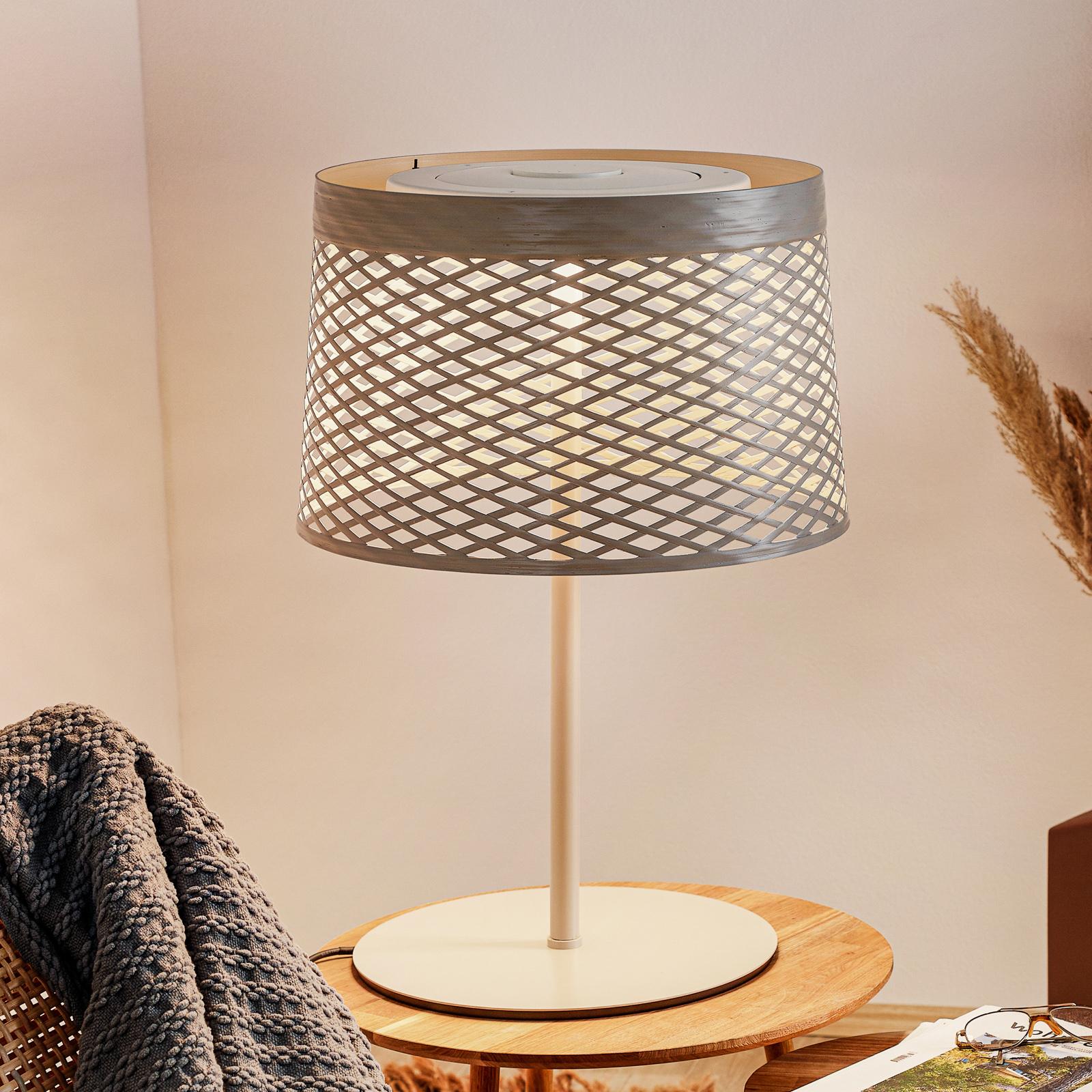 Foscarini Twiggy Grid XL lampa stołowa LED, greige