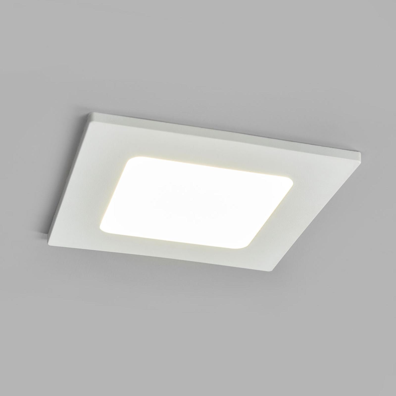 LED-indbygningsspot Joki hvid 4000K kantet 11,5cm