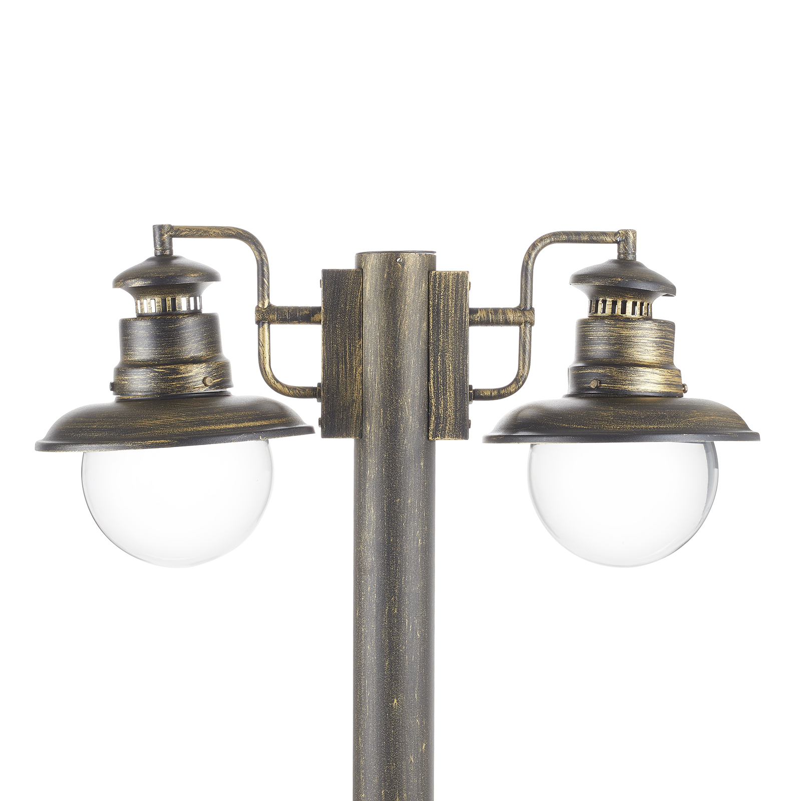 Artu - two-bulb post light in black/gold_1507156_1