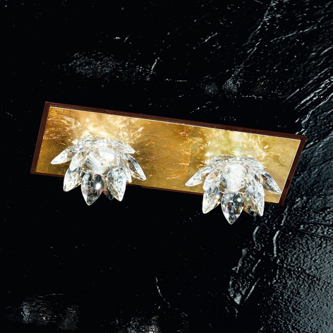 Fiore-kattovalaisin lehtikullalla ja kristallilla