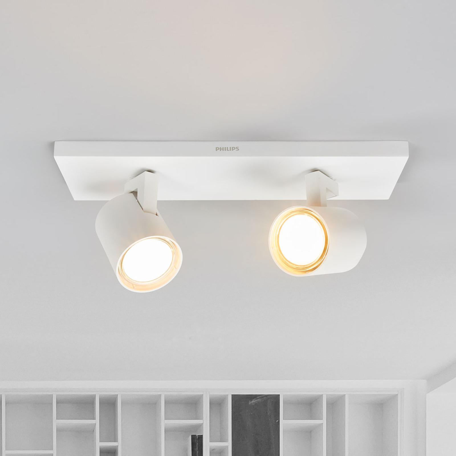 Philips Runner LED-Deckenleuchte weiß 2-flg.