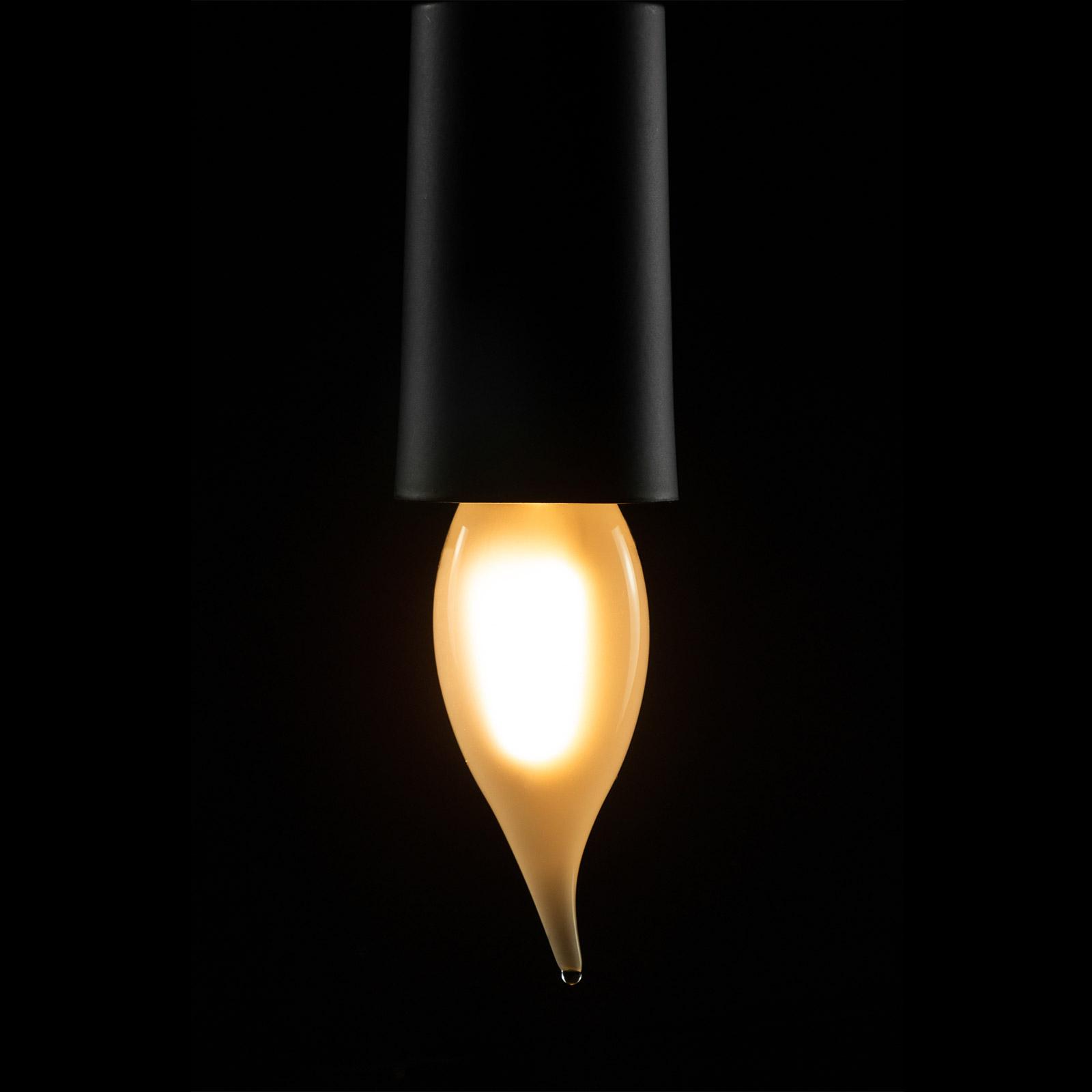 E14 2,7W LED-Windstoß-Kerzenlampe dimmbar matt