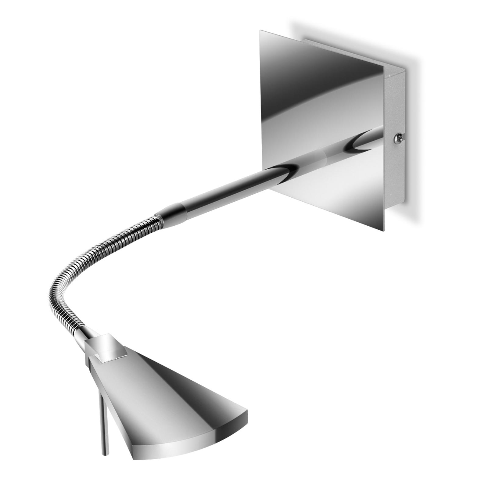 Flexibel LED-vägglampa Nec, krom