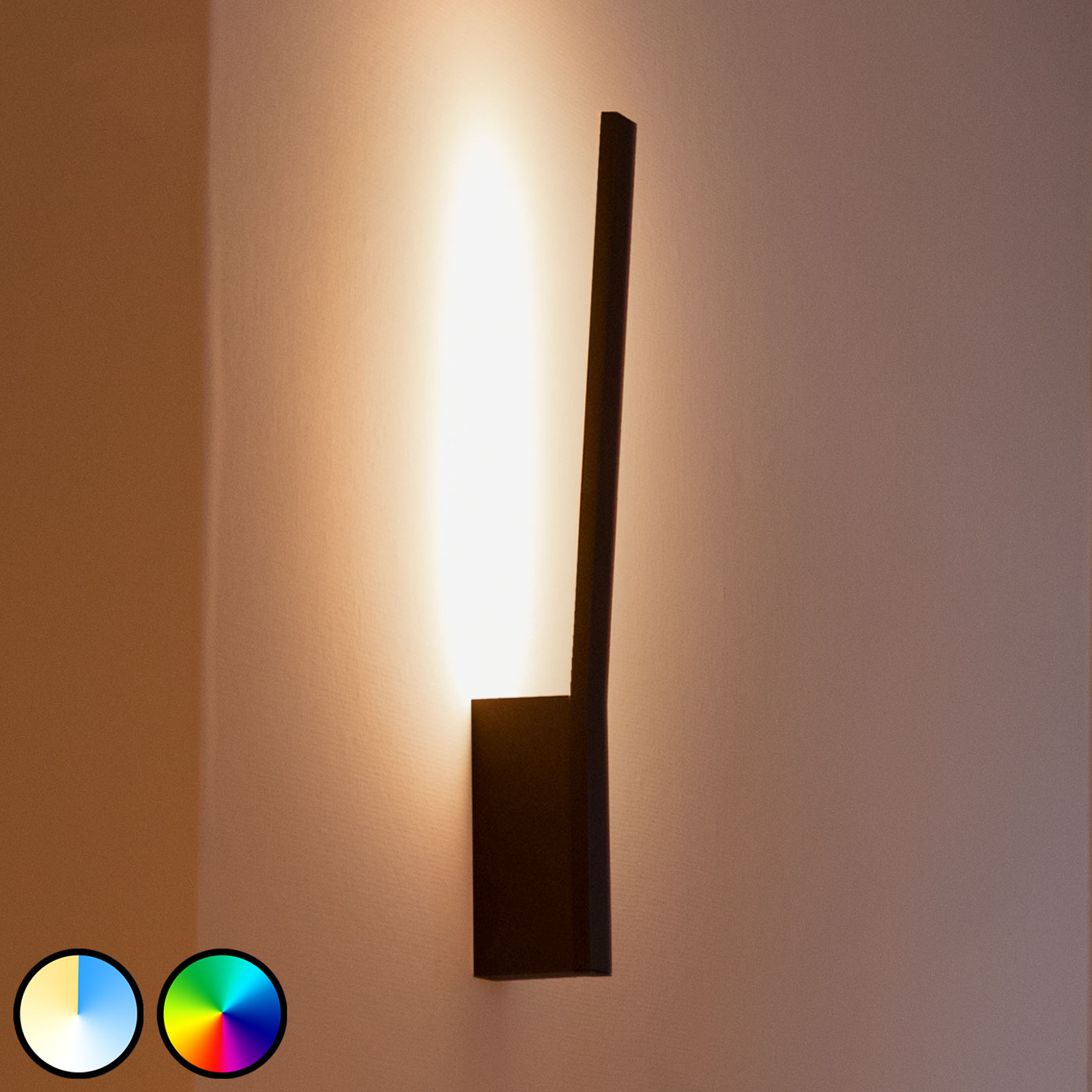 Philips Hue Liane LED-Wandleuchte, RGBW, schwarz