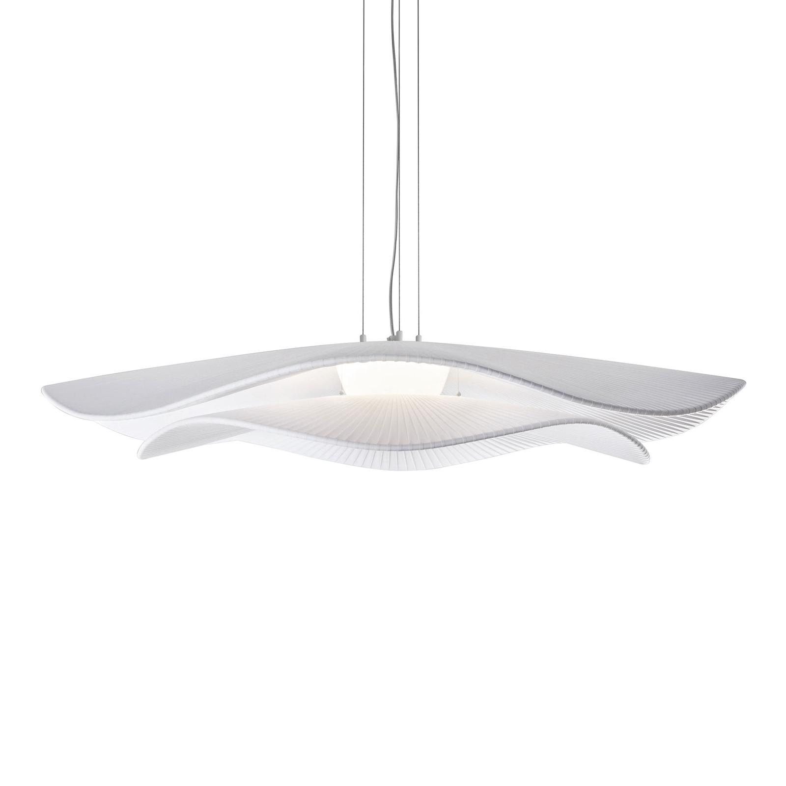 Bover Mediterrània LED-Hängelampe 2 Schirme weiß