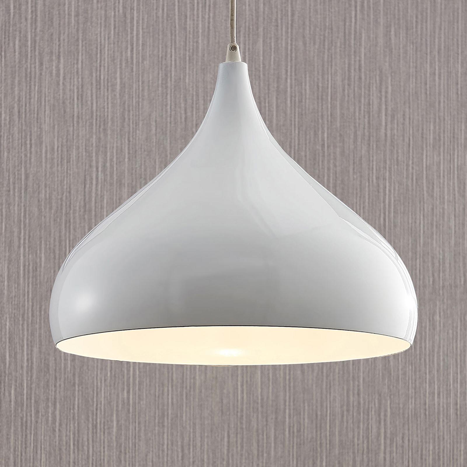Lampada a sospensione Ritana, alluminio, bianco