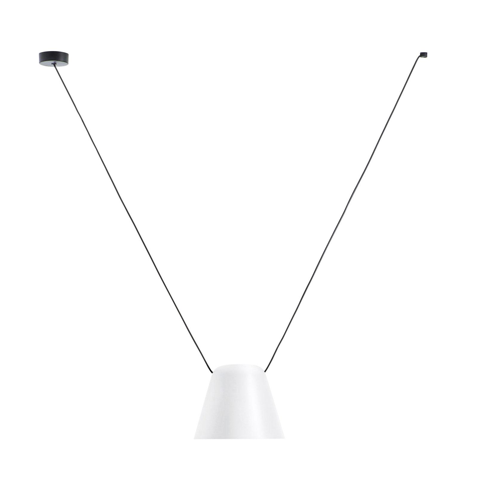 LEDS-C4 Attic Pendellampe Kegelstumpf 24cm weiß