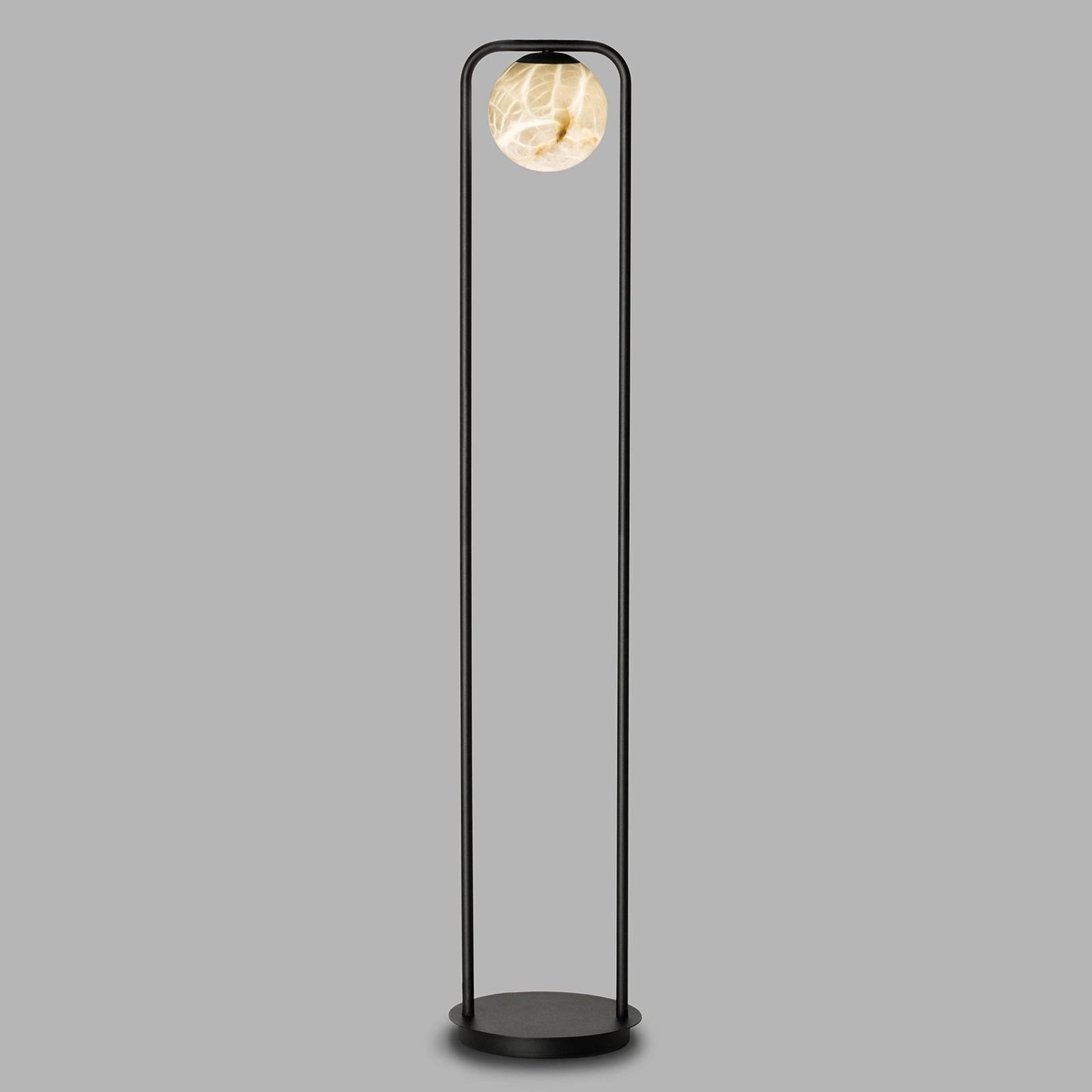 Lampadaire LED Tribeca avec albâtre à 1 lampe