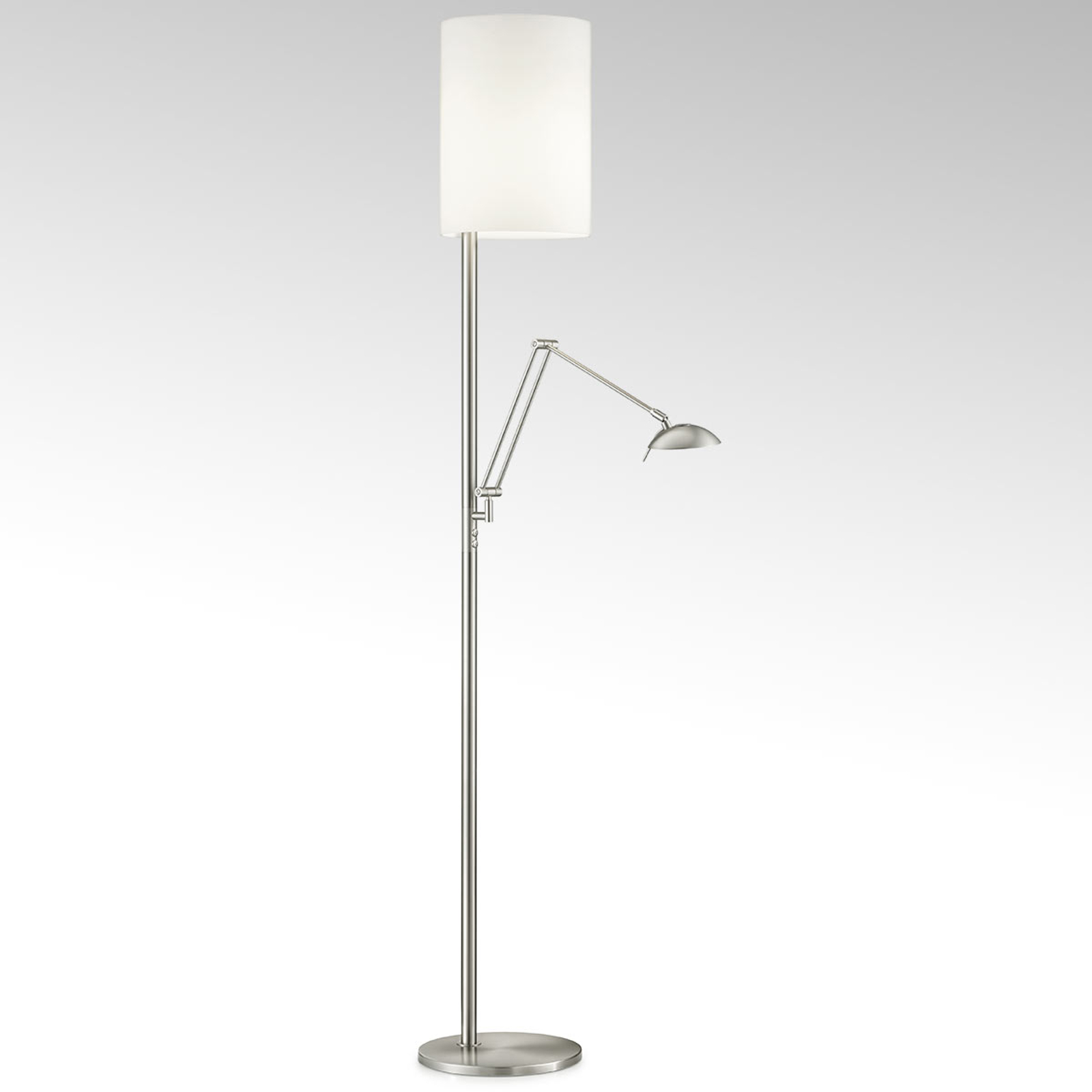 Lampadaire LED Nola nickel mat