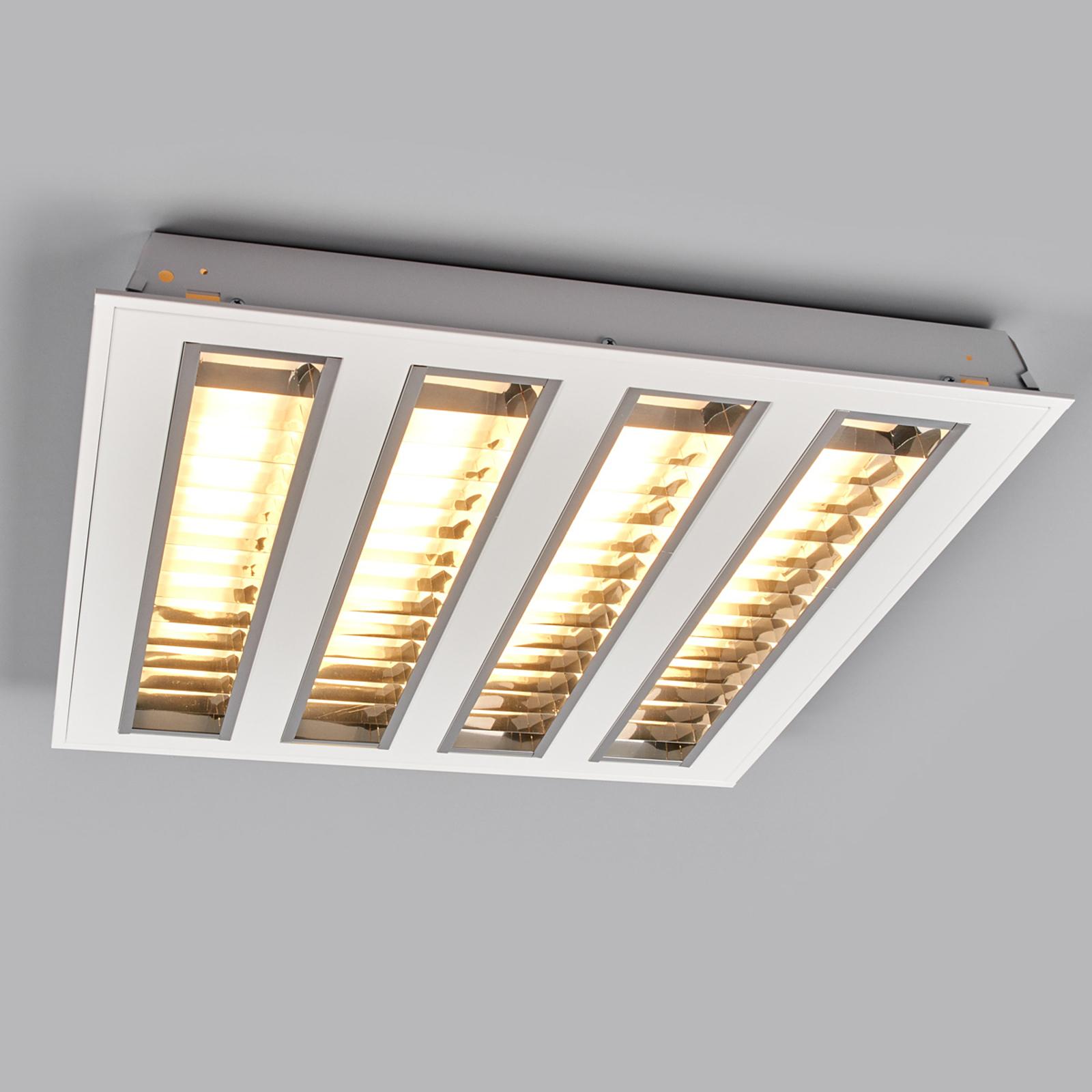 Plafonnier trame encast. LED à 4 trames, 3 000 K