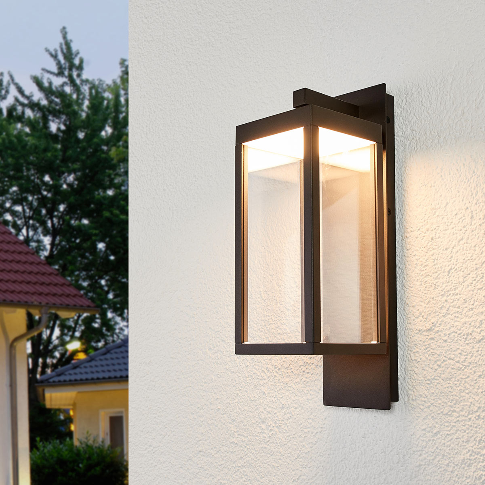 Kinkiet zewnętrzny LED Ferdinand w formie lampionu