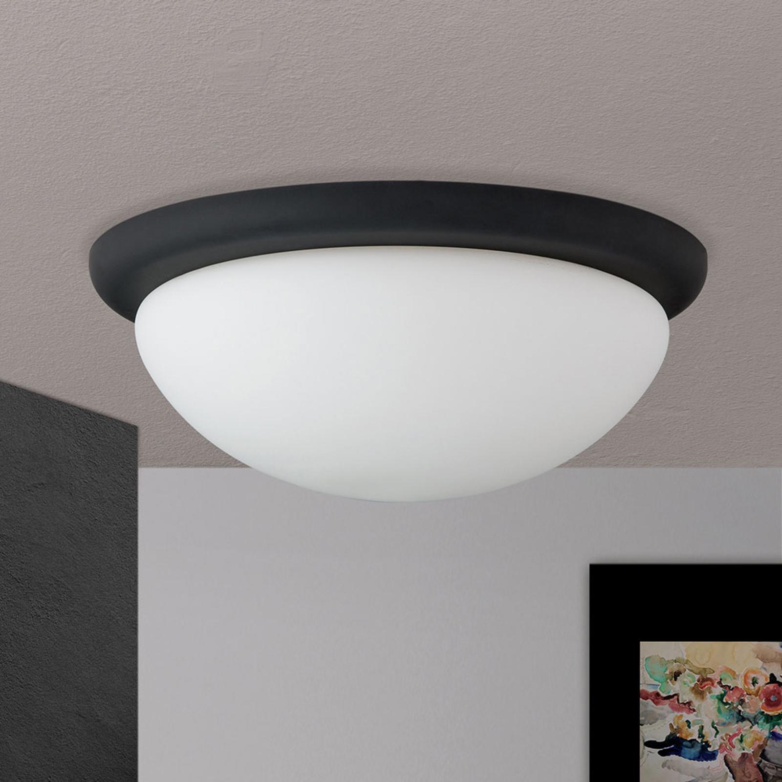 Lampa sufitowa Classico, czarna/biała, Ø 38 cm