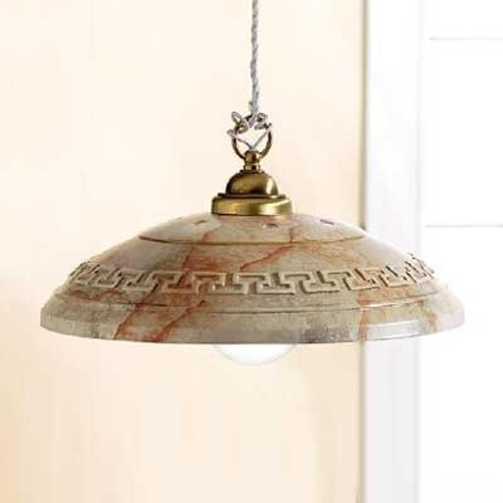 Imponująca lampa wisząca GRECA MARMO