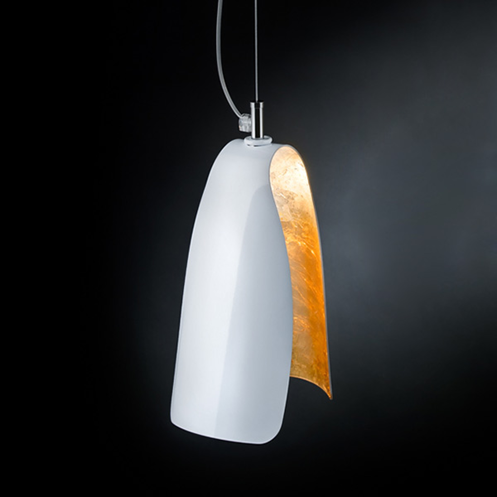 Samodzielna lampa wisząca TROPIC, złoto płatk.