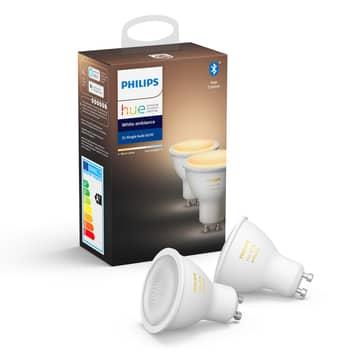 Philips Hue White Ambiance 5 W GU10 LED, sæt m. 2