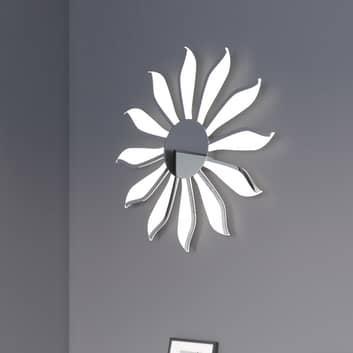 LED wandlamp Dela-Suna 12-lamps chroom, dimbaar