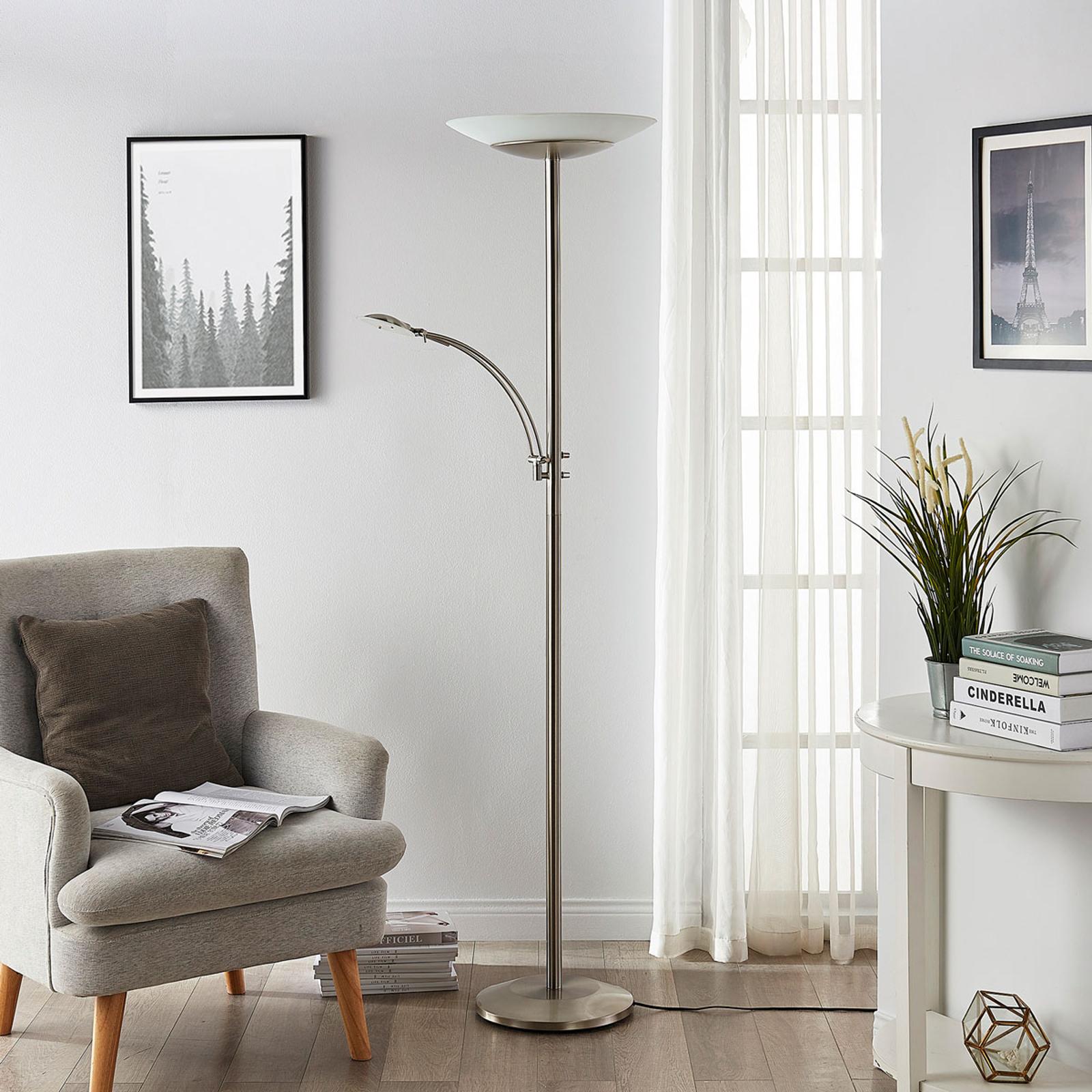 Ilinca - lampadaire LED indirect dimmable et lampe