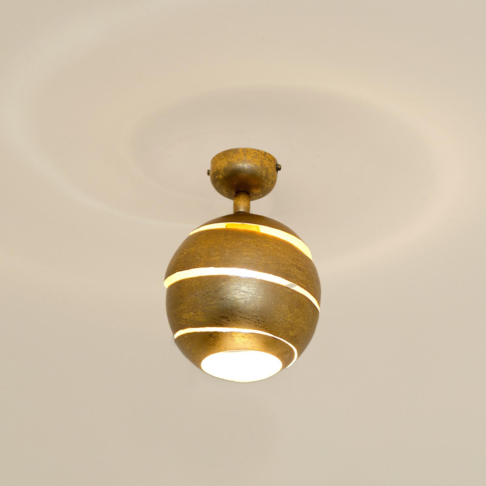 Produktové foto J. Holländer Otočné stropní světlo Suopare ve zlaté