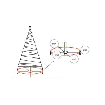 Fairybell® ancoraggio a croce per albero 6/8/10m