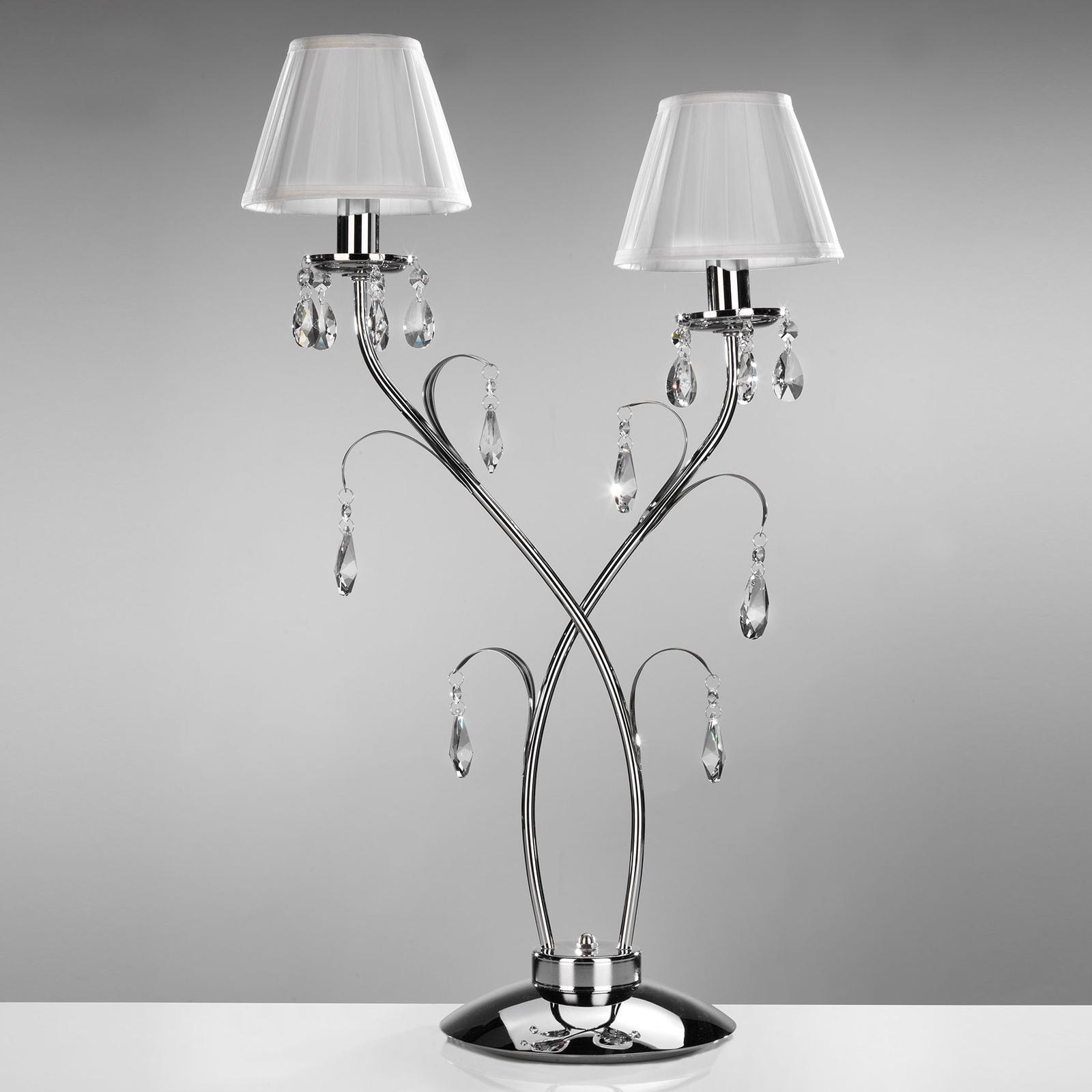 Jacqueline bordlampe, 2 lyskilder, hvid