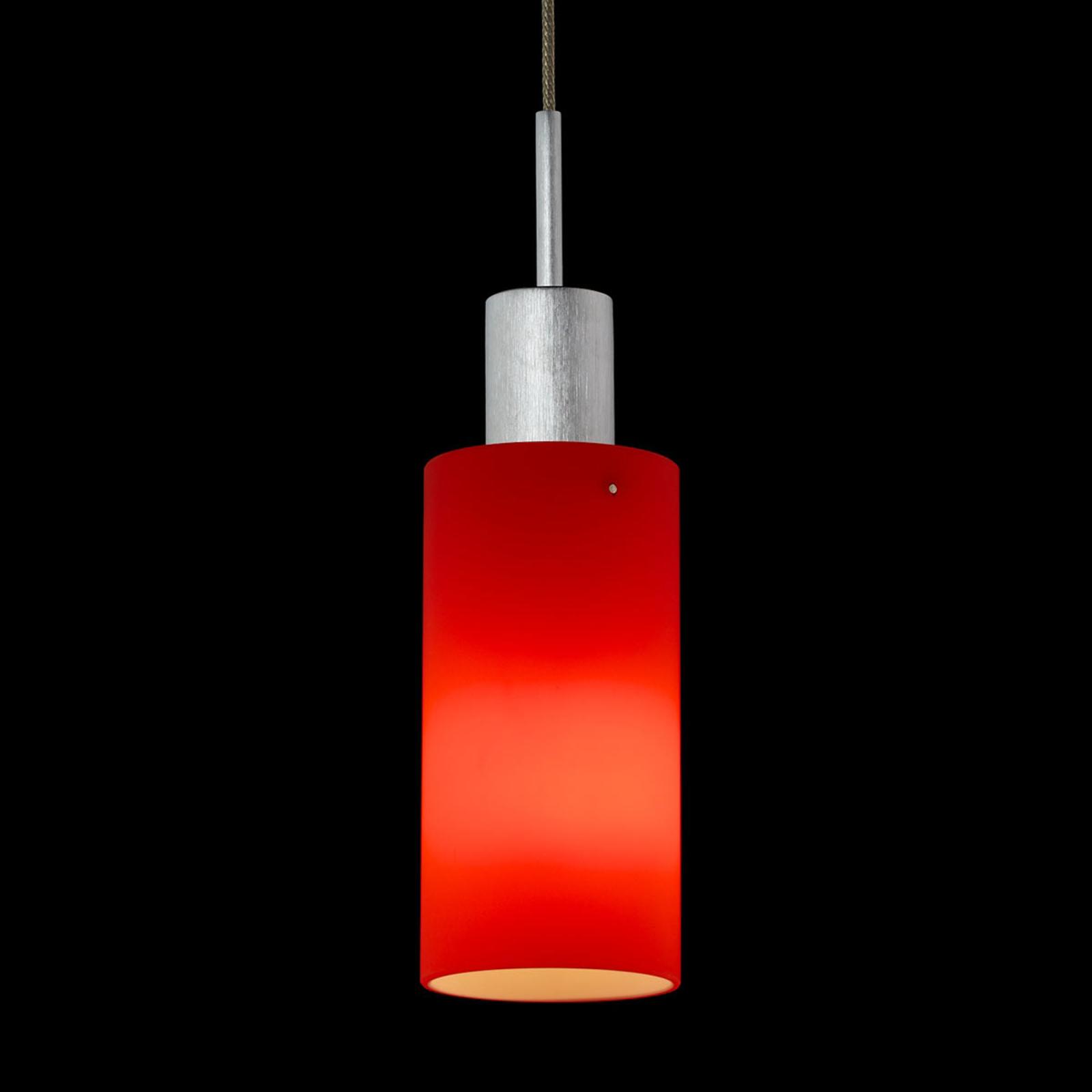 LDM Mono Uno lampada sospensione, rosso satinato
