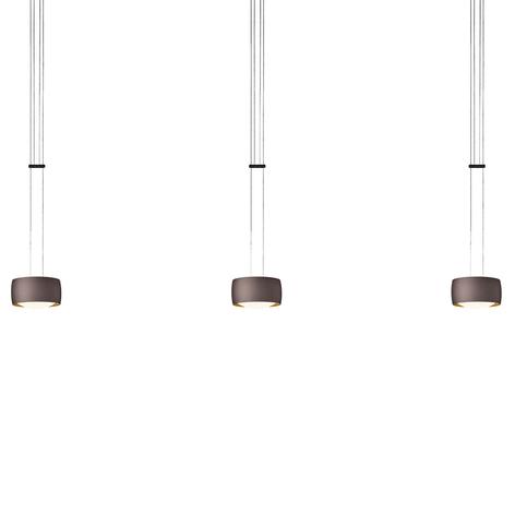 OLIGO Grace LED-pendellampa 3 lampor brun