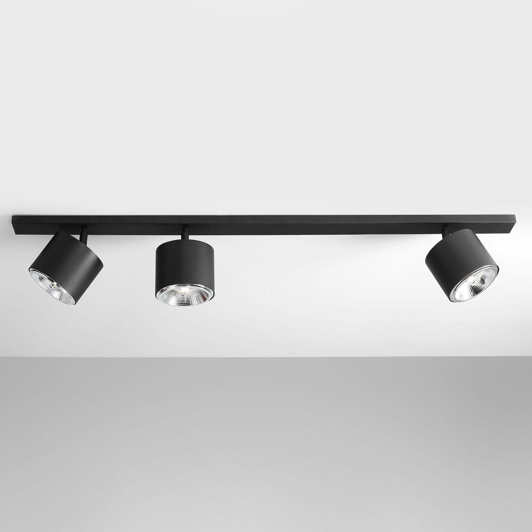 Lampa sufitowa 1047, 3-punktowa, czarna