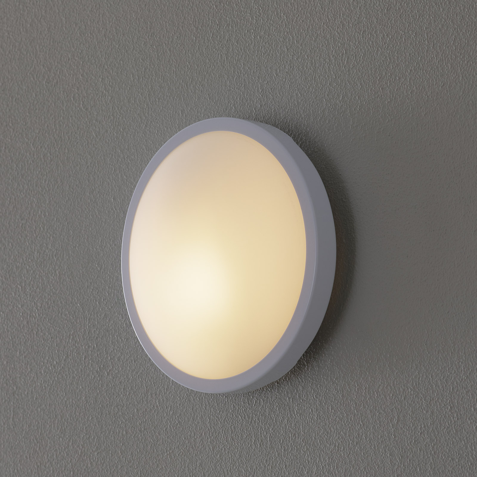 Lámpara de pared o techo PLAZA, 21,5 cm, blanco
