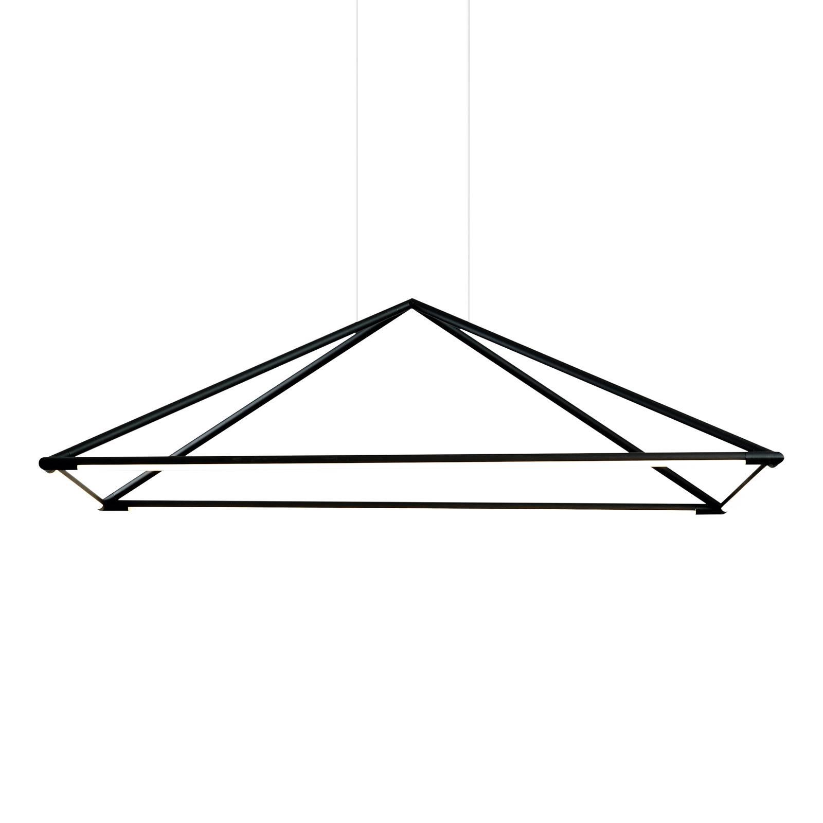 Grok Tubs LED hanglamp in mat-zwart 120x80 cm