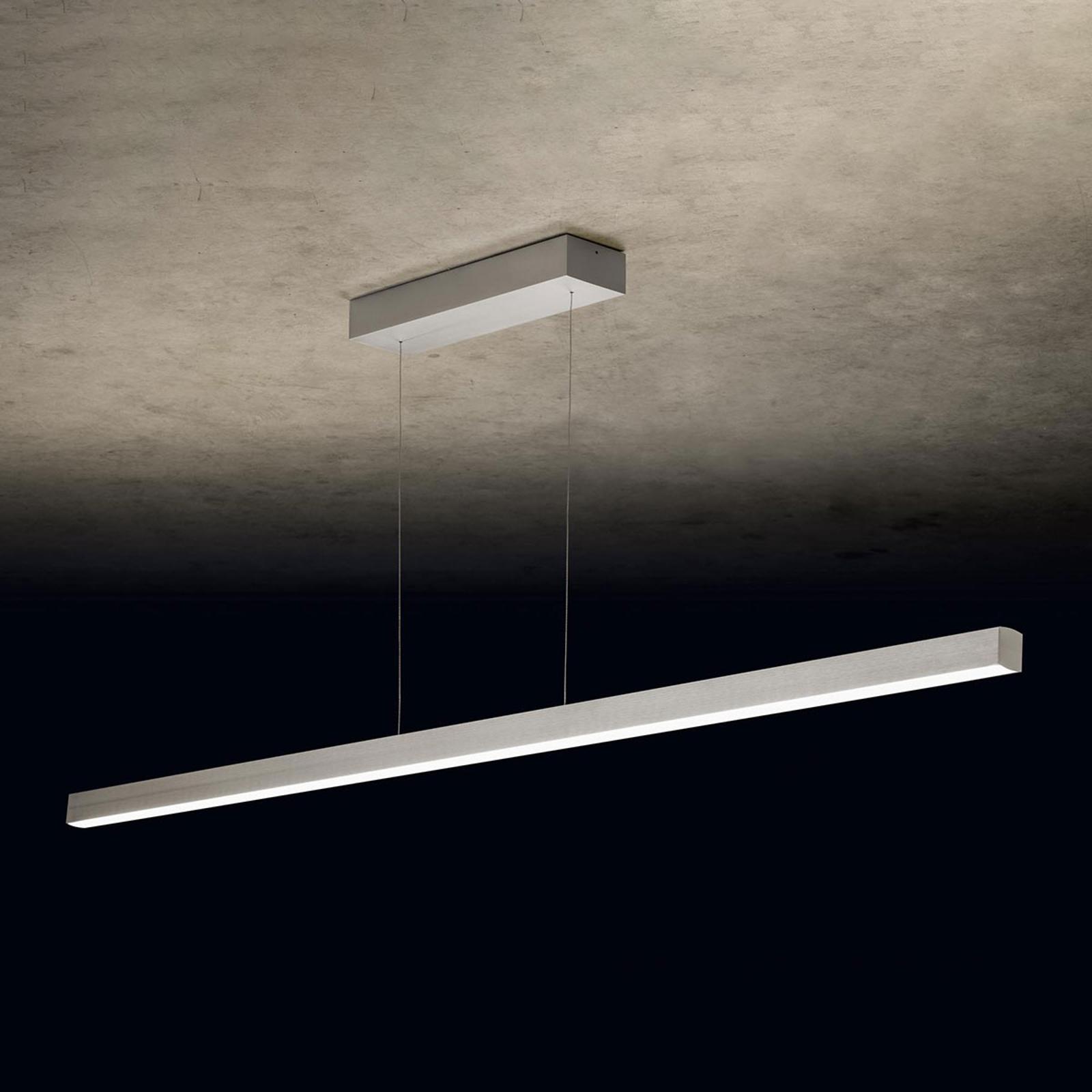 Holtkötter Xena L LED hanglamp, 160 cm, zilver