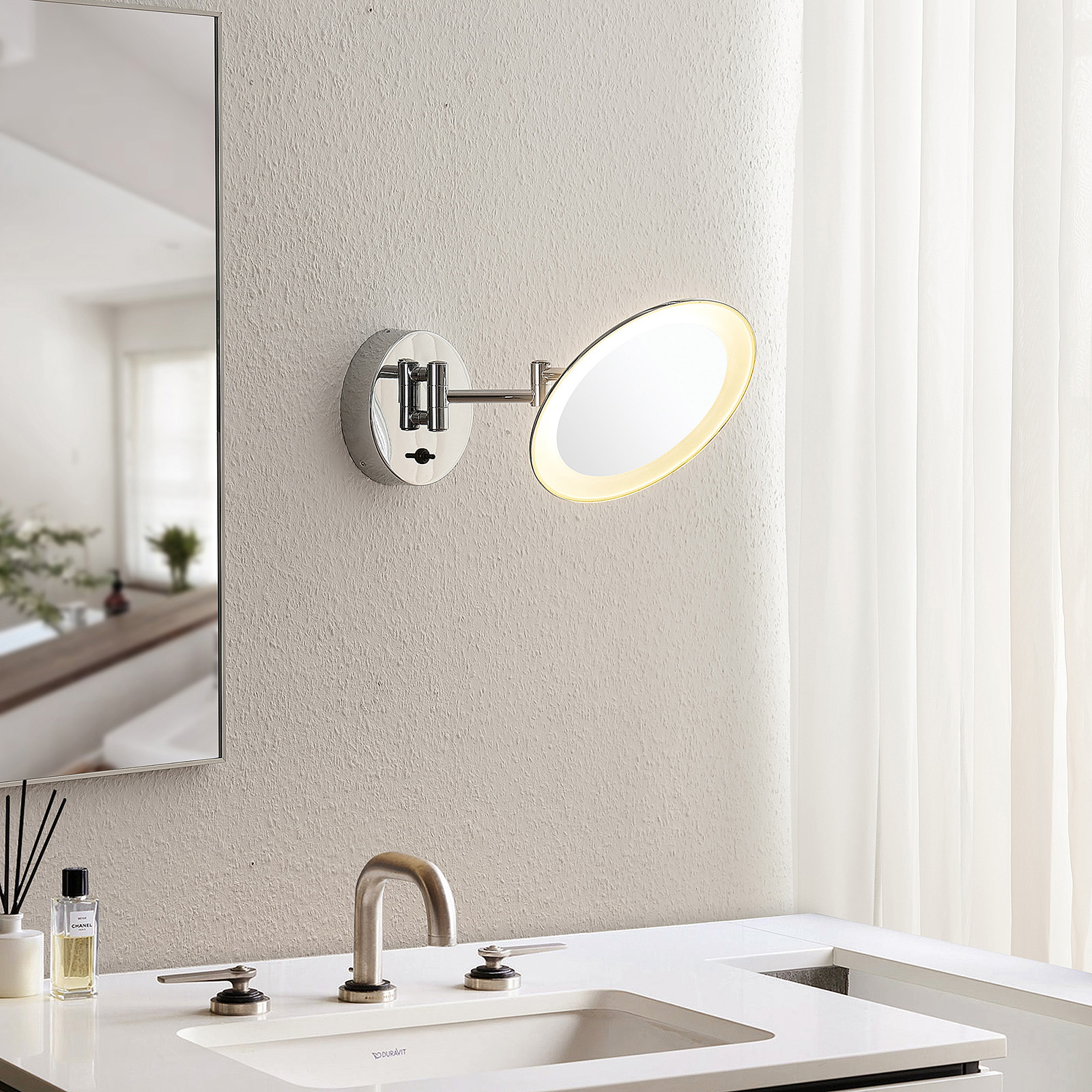 Lindby Fiana cosmeticaspiegel met LED-licht