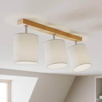 Foco de techo Corralee, blanco, 3 luces