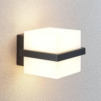 LED buitenwandlamp Auron, kubusvormig