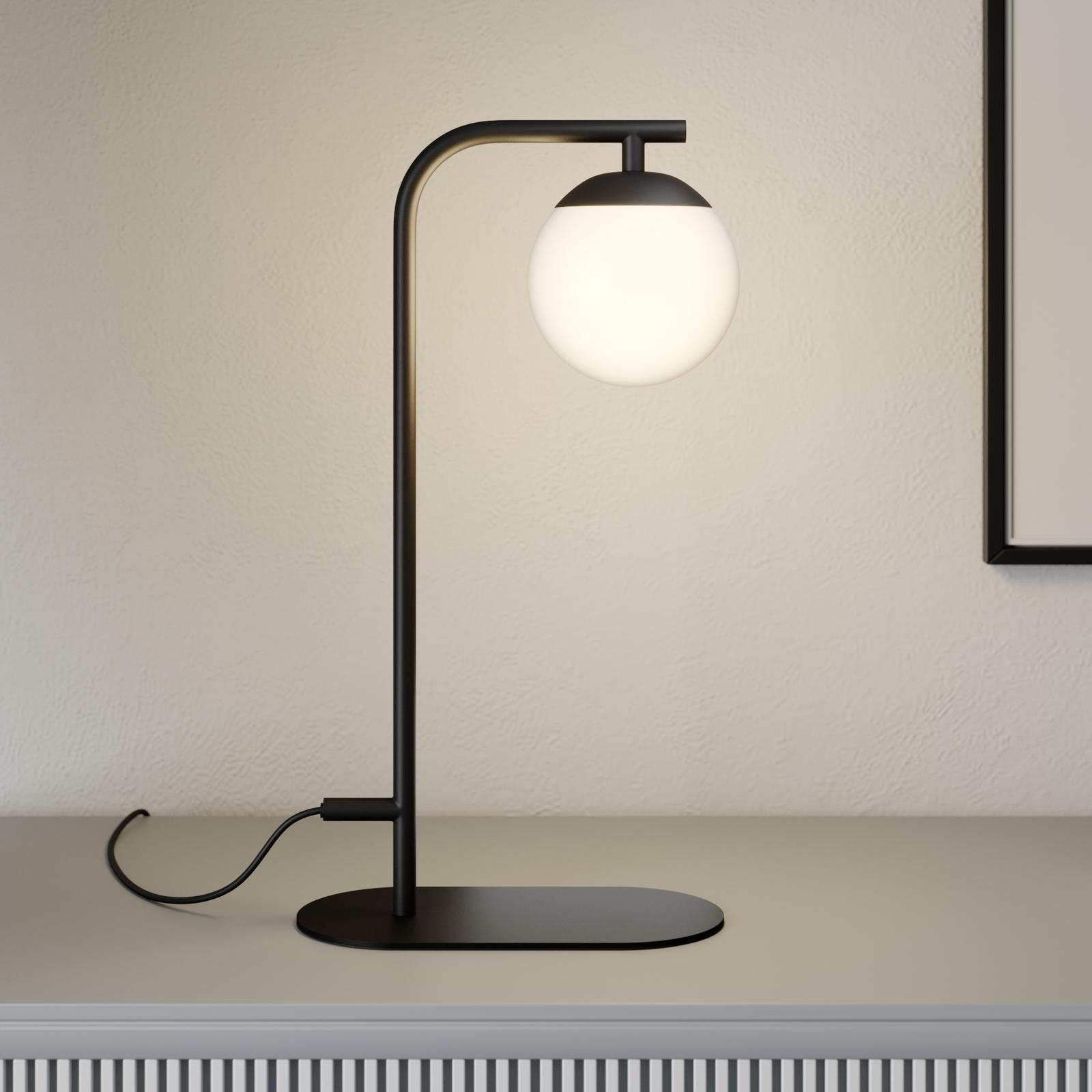 Lucande Rama LED-bordlampe med glasskærm