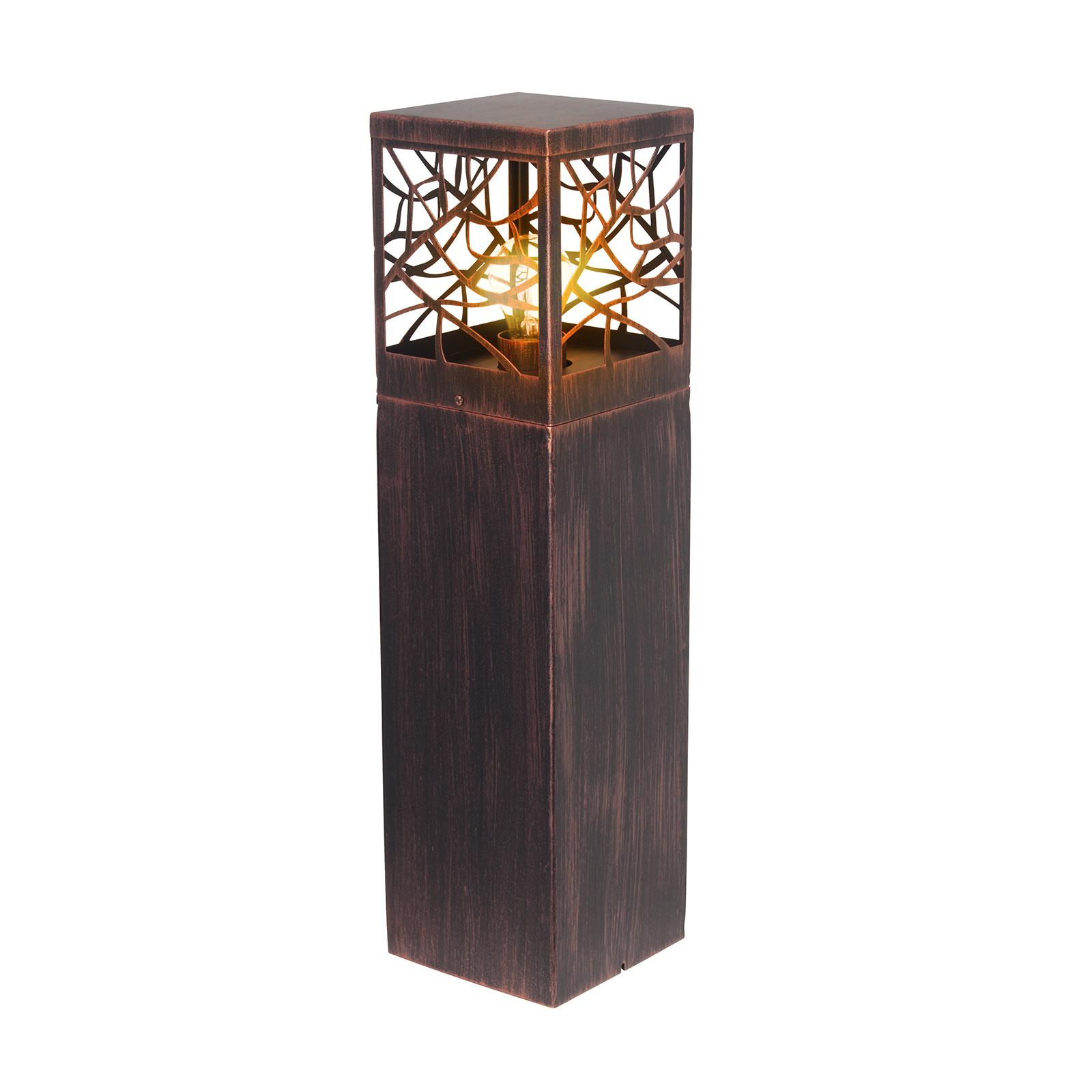 Lampa cokołowa Whitney, kolory rdzy