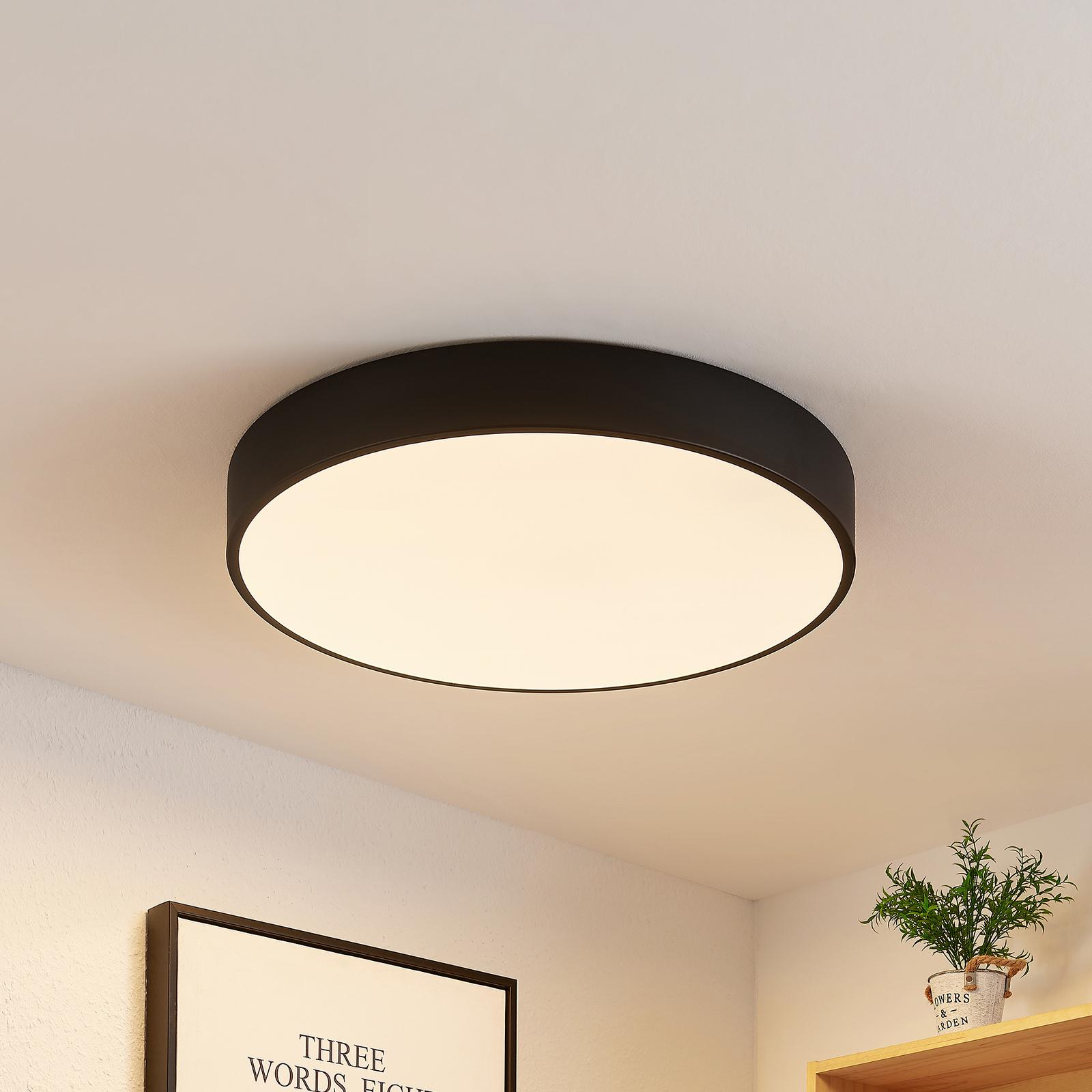 Lindby Simera LED-taklampe, 50 cm, svart