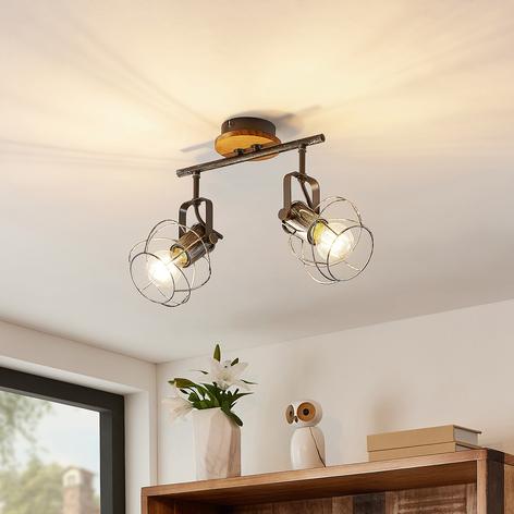Lindby Salima stropní spot, klec, 2žárovkový