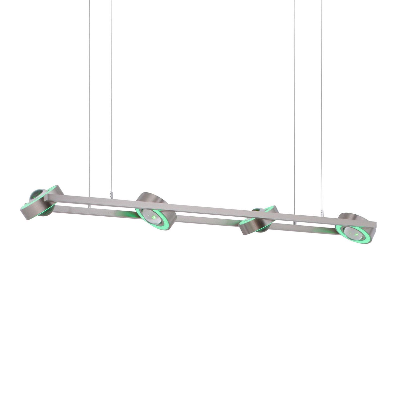 Paul Neuhaus Q-MIA suspension LED, acier
