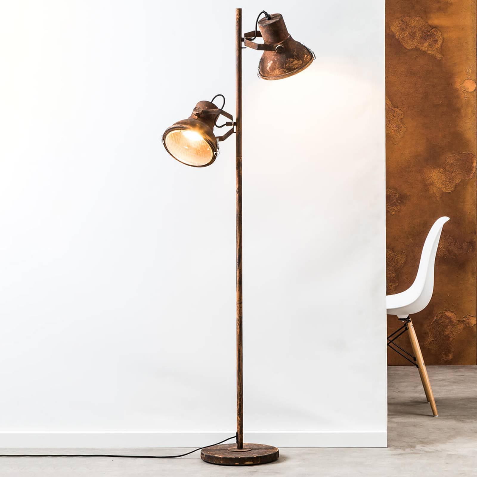 Vloerlamp Frodo met twee lampjes