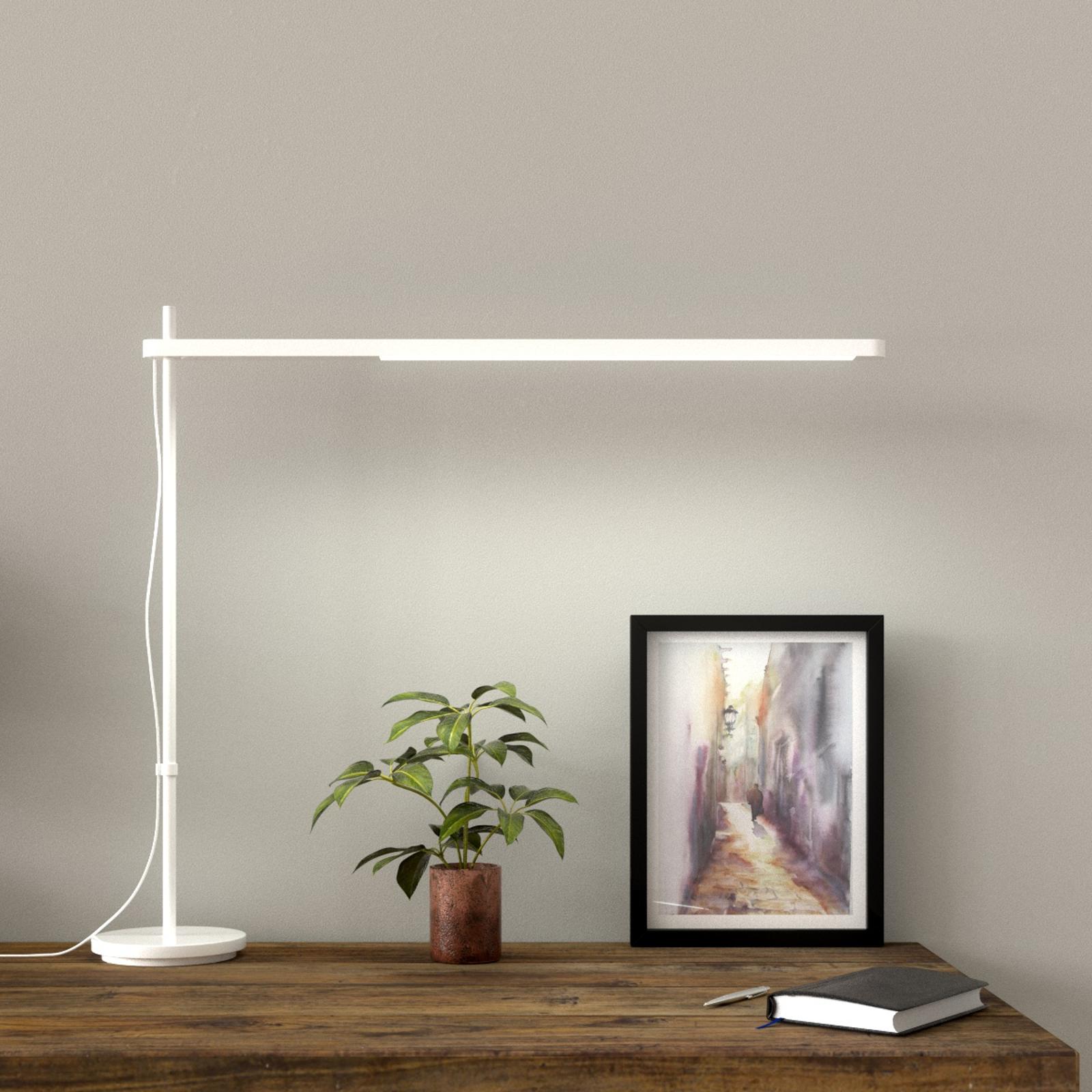 LED-skrivbordslampa Talak Professional, vit