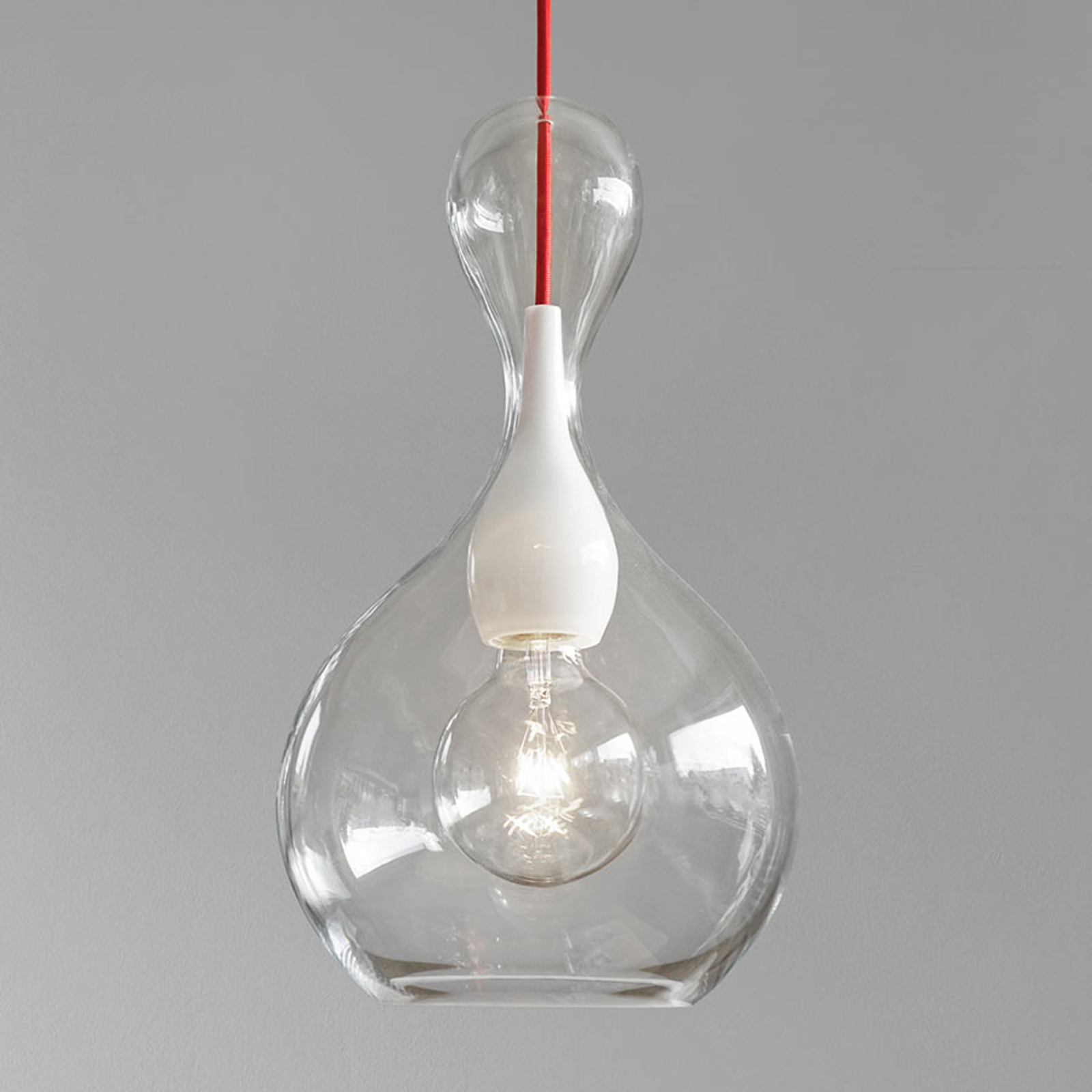 next Blubb Pendelleuchte aus klarem Glas