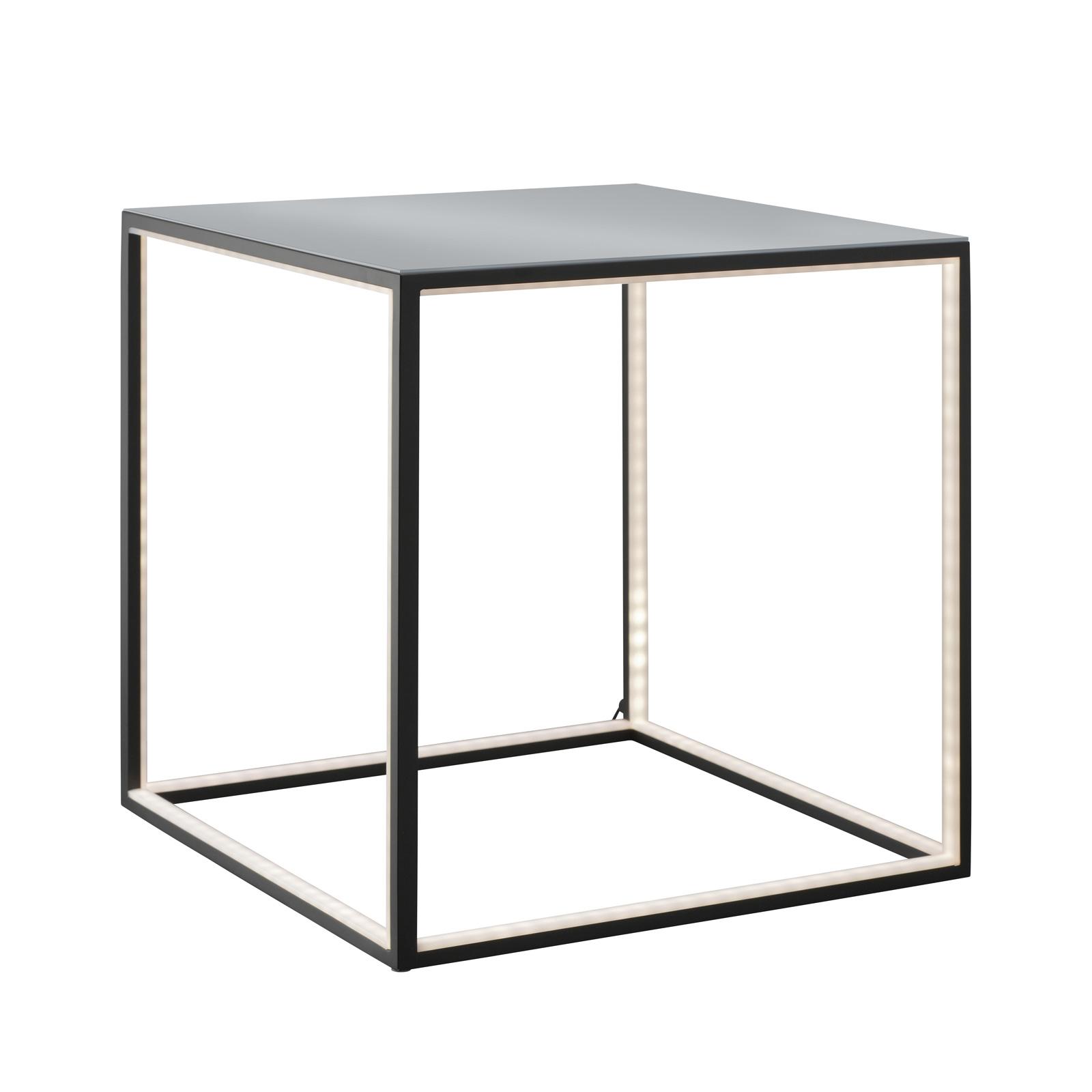Podświetlany stolik Delux, czarny, 42 cm