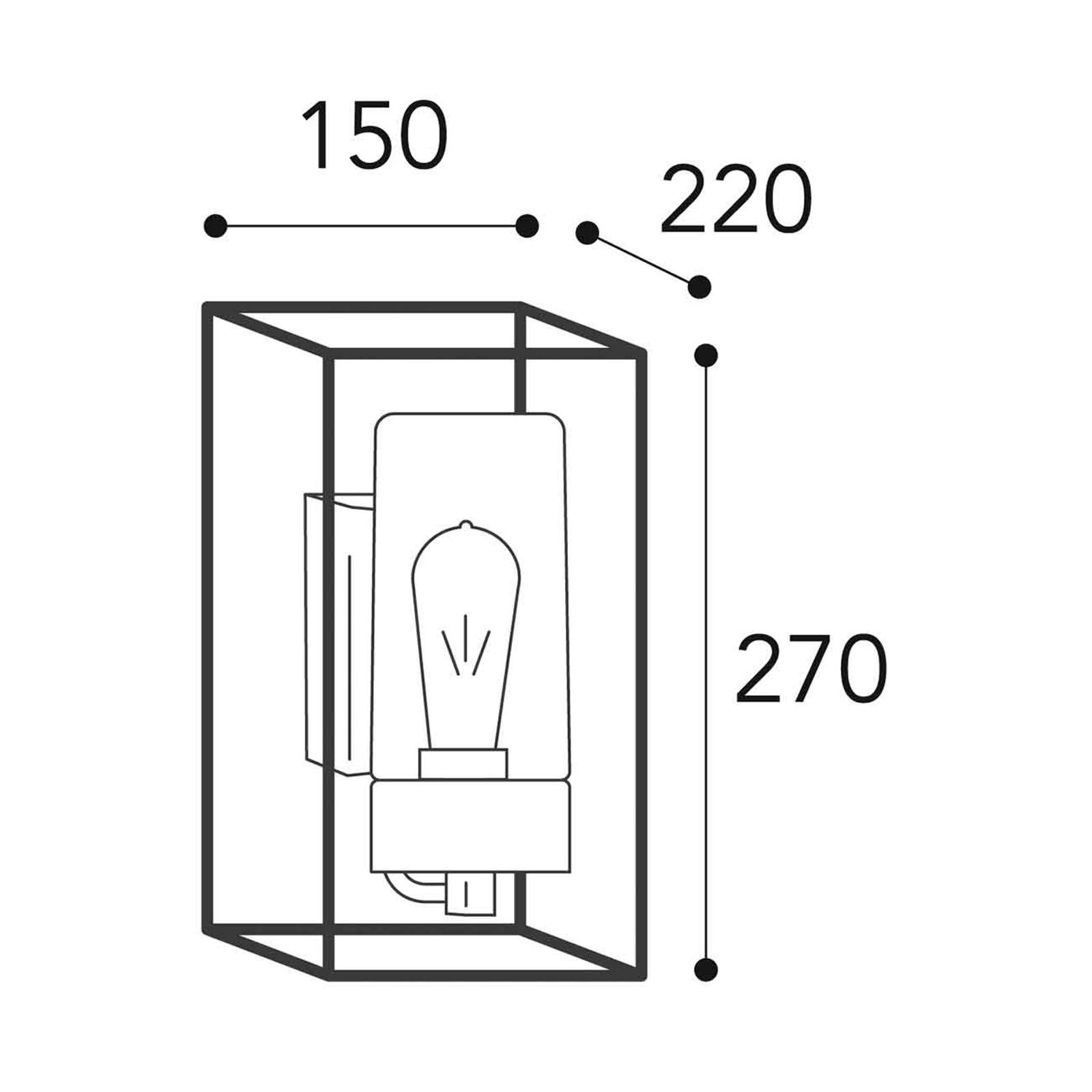 Außenwandleuchte Cubic³ 3364 nickel antik/klar