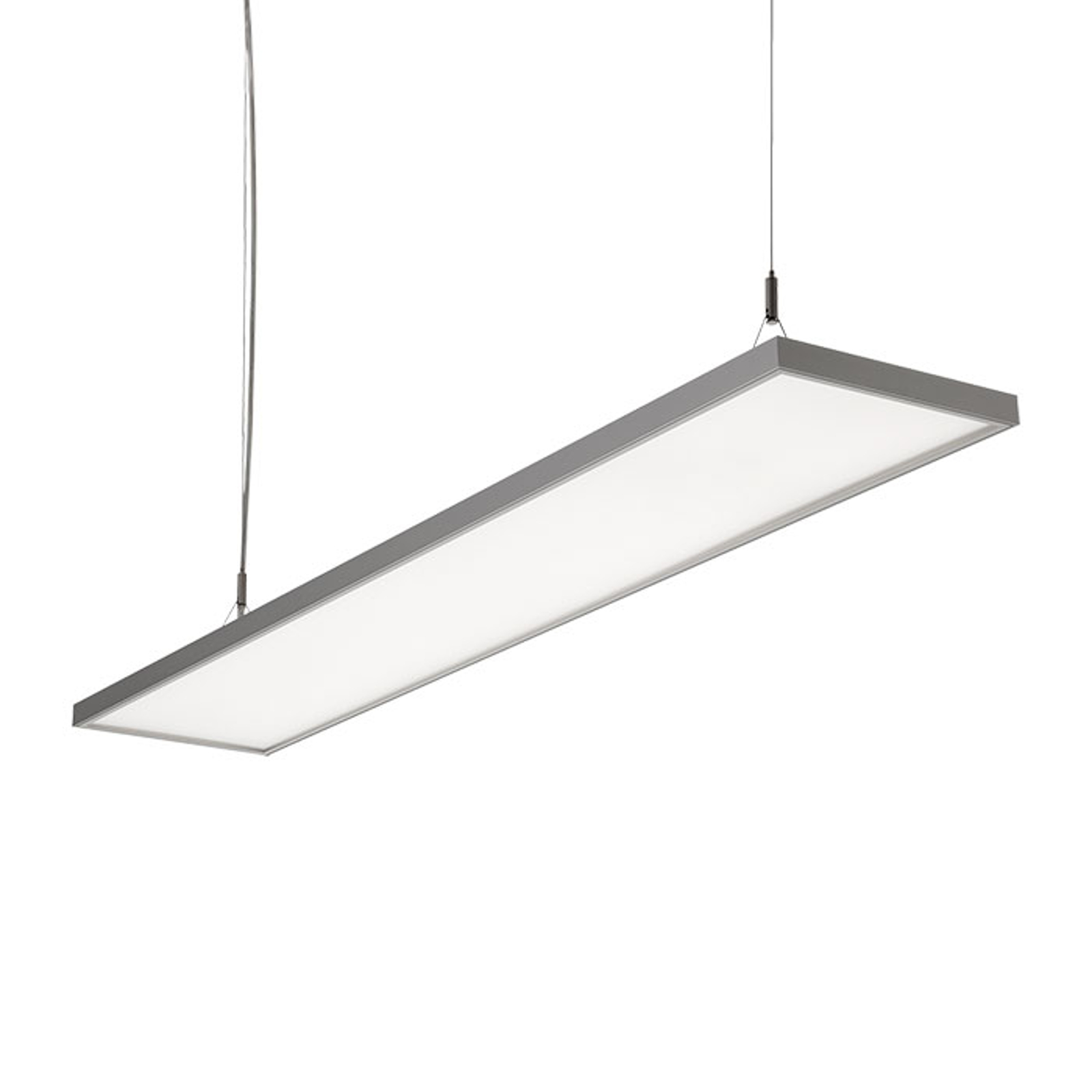 Lampa wisząca LED C95-P srebrnoszara 119,4 cm
