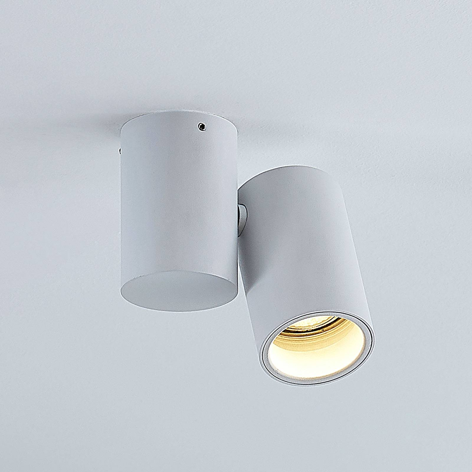 Lampa sufitowa Gesina, 1-punktowa, biała