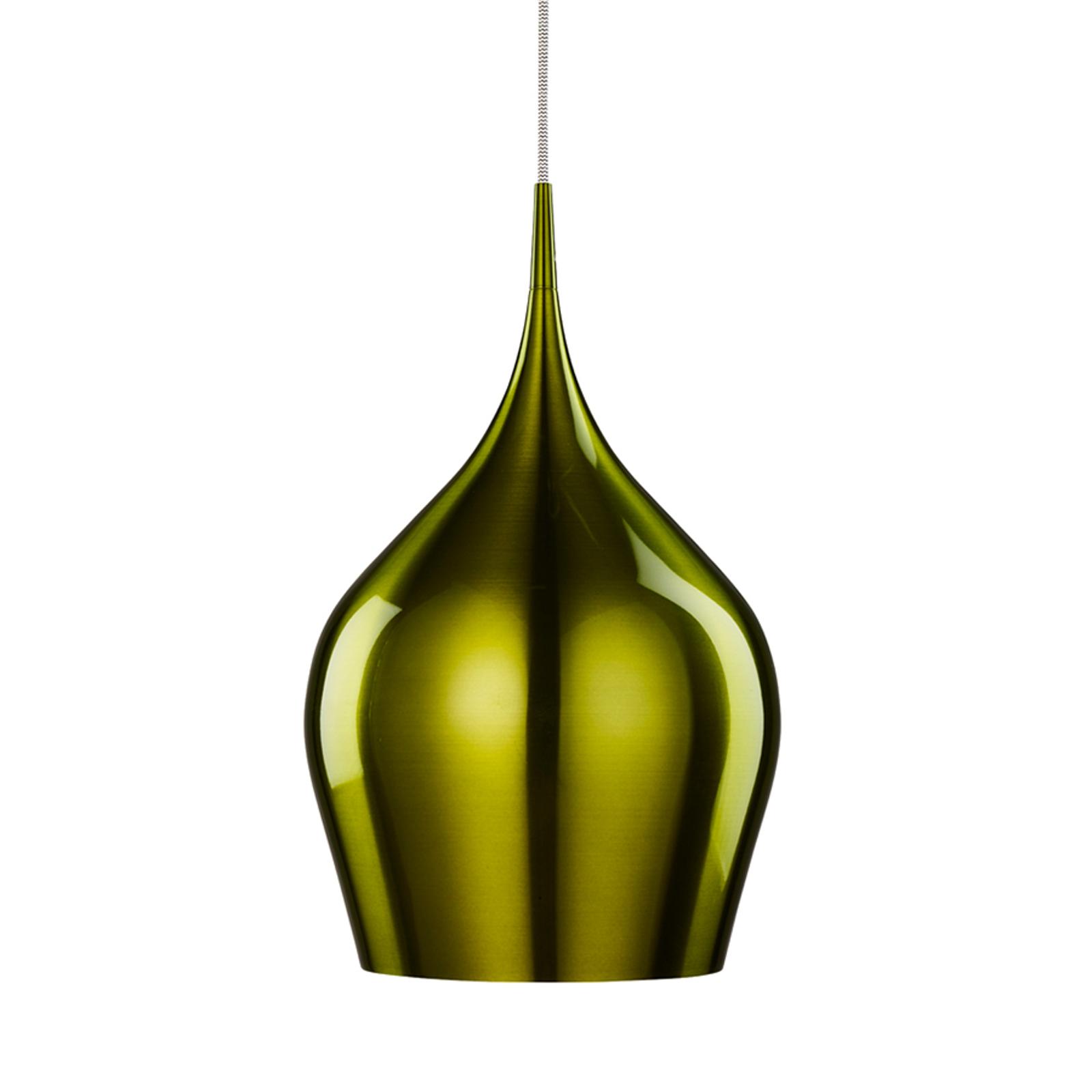 Lampada a sospensione Vibrant in un bel verde