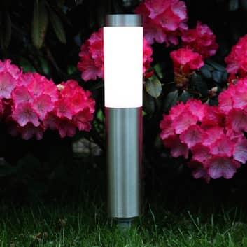 LED-Erdspießleuchte Freya für Solarbetrieb, silber