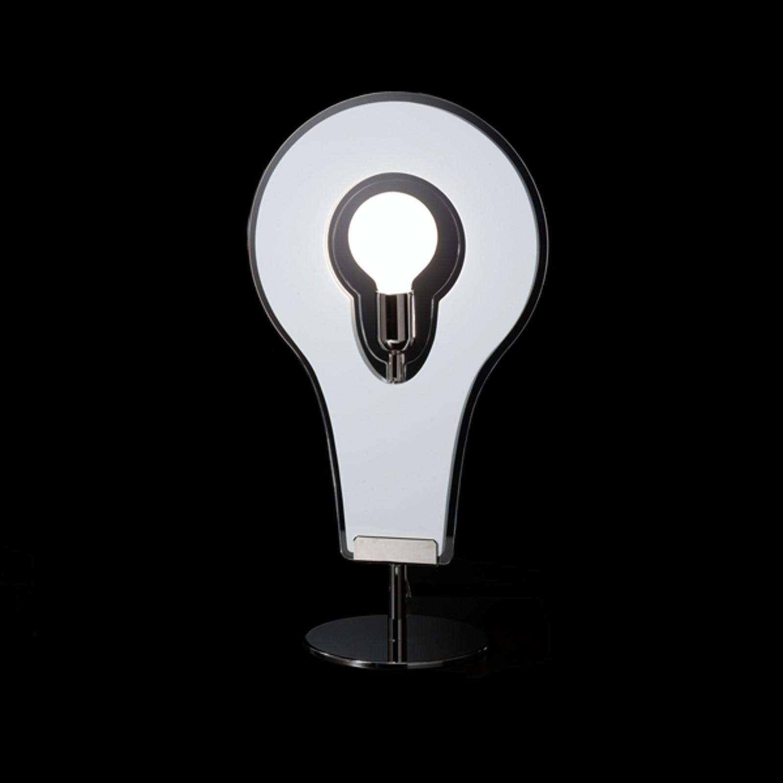 Fascinante lampe à poser Flat 60 blanche